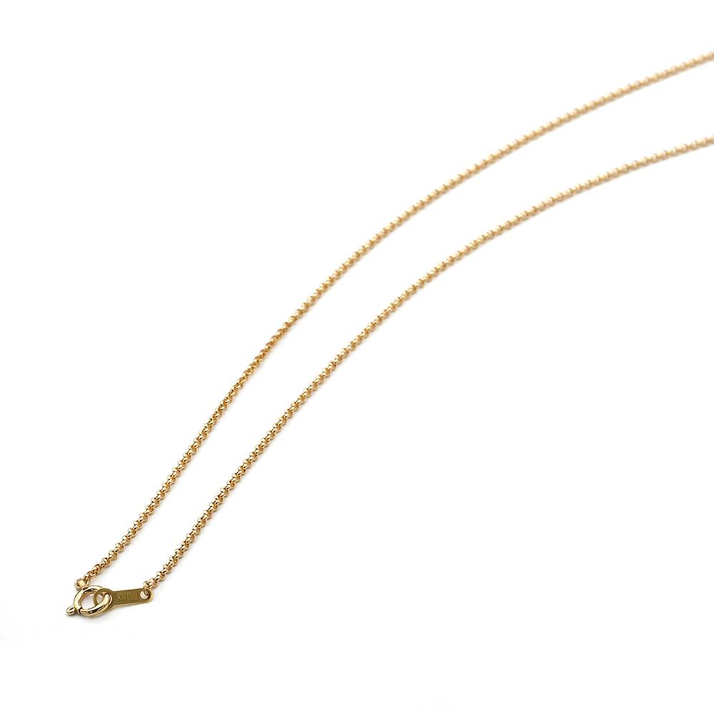 ネックレス チェーン 18金 イエローゴールド ロールチェーン 幅1.2mm 長さ38cm|鎖 K18YG 18k 貴金属 ジュエリー レディース メンズ