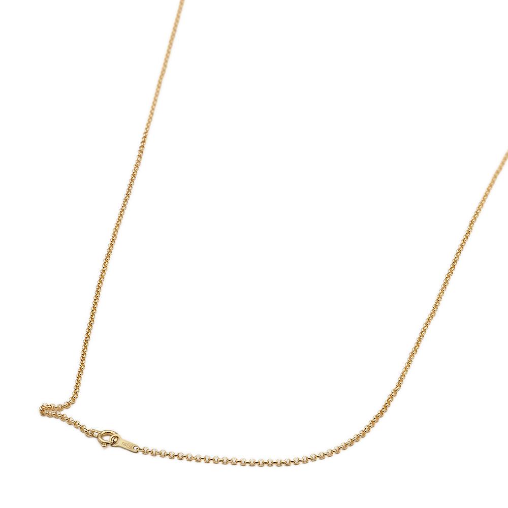 ネックレス チェーン 18金 イエローゴールド ロールチェーン 幅1.7mm 長さ38cm 鎖 K18YG 18k 貴金属 ジュエリー レディース メンズ