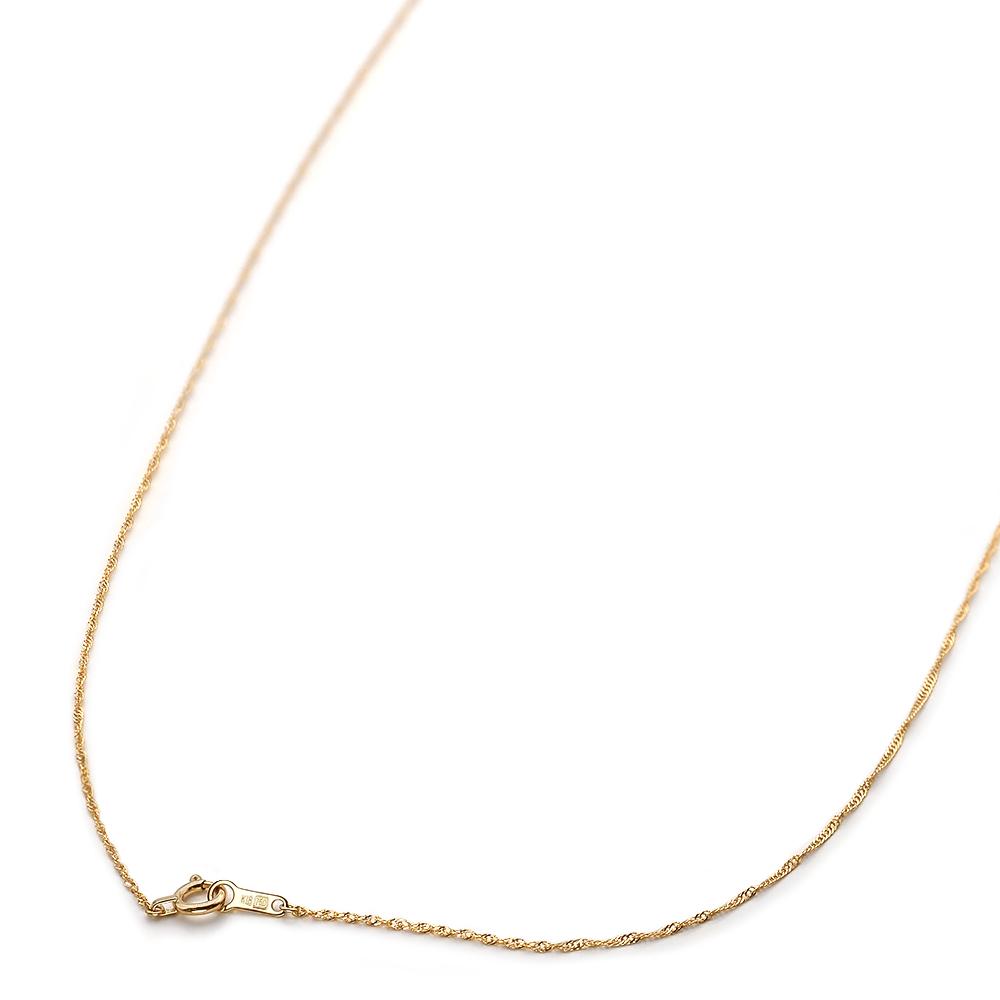 ネックレス チェーン 18金 イエローゴールド スクリューチェーン 幅1.0mm 長さ38cm|鎖 K18YG 18k 貴金属 ジュエリー レディース メンズ