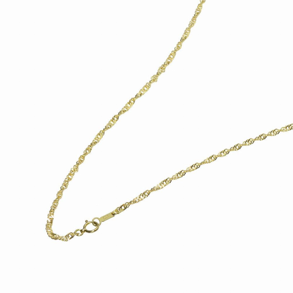 ネックレス チェーン 18金 イエローゴールド スクリューチェーン 幅2.4mm 長さ38cm|鎖 K18YG 18k 貴金属 ジュエリー レディース メンズ