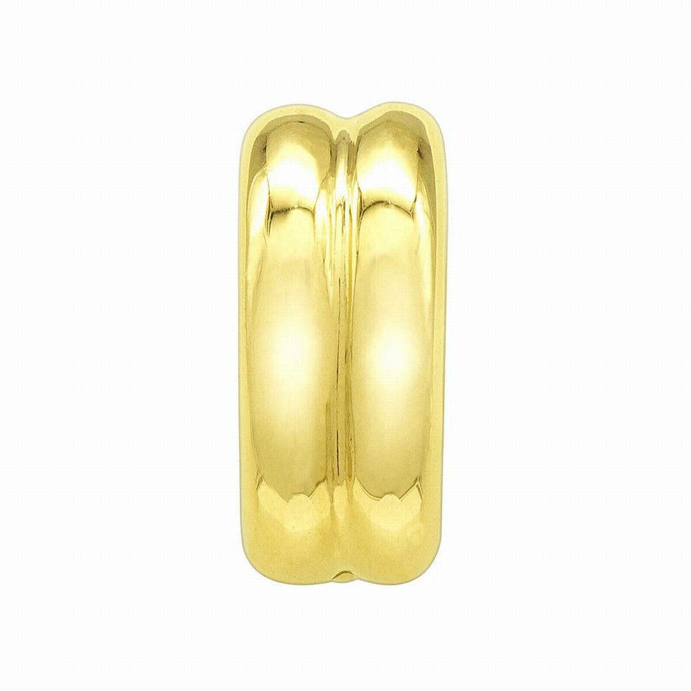 【1個売り】 バチカン 18金 イエローゴールド 口開き丸カン付きバチカン 縦10.0mm 横4.7mm ペンダントトップ用|手芸用品 金具 飾り パーツ 部品 K18YG 18k 貴金属