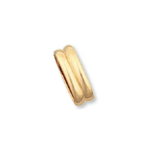 【1個売り】 バチカン 18金 イエローゴールド 溝入りバチカン 縦5.4mm 横15.5mm ペンダントトップ用|手芸用品 金具 飾り パーツ 部品 K18YG 18k 貴金属