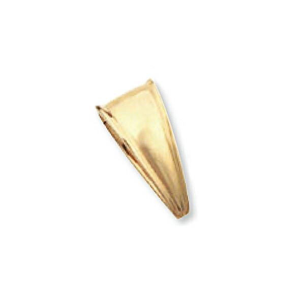 【1個売り】 バチカン 18金 イエローゴールド 溝入りバチカン 縦18.0mm 横8.5mm ペンダントトップ用|手芸用品 金具 飾り パーツ 部品 K18YG 18k 貴金属