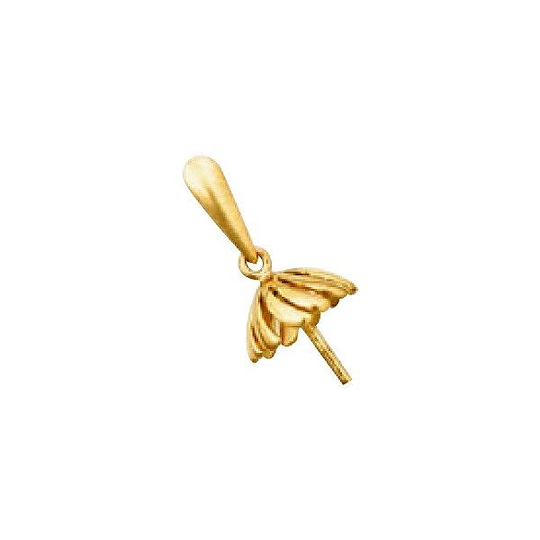 【1個売り】 バチカン付きつきさしパーツ 18金 イエローゴールド パール用ヒートン 7.0mm~9.0mm玉用 ペンダントトップ用 真珠 ビーズ|手芸用品 金具 飾り パーツ 部品 K18YG 18k 貴金属