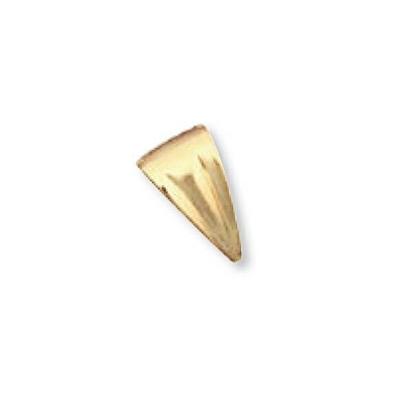 【1個売り】 バチカン 18金 イエローゴールド 溝入りバチカン 縦12.0mm 横6.8mm ペンダントトップ用|手芸用品 金具 飾り パーツ 部品 K18YG 18k 貴金属