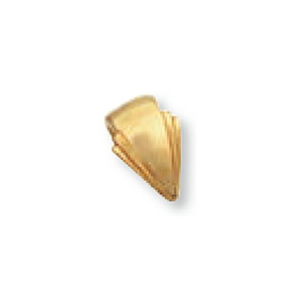 【1個売り】 バチカン 18金 イエローゴールド サイド段付きバチカン 縦8.2mm 横5.5mm ペンダントトップ用|手芸用品 金具 飾り パーツ 部品 K18YG 18k 貴金属