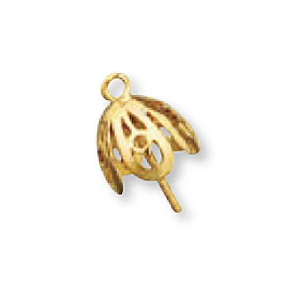 【1個売り】 つきさしパーツ 18金 イエローゴールド パール用ヒートン 7.0mm~8.0mm玉用 真珠 ビーズ|手芸用品 金具 飾り パーツ 部品 K18YG 18k 貴金属