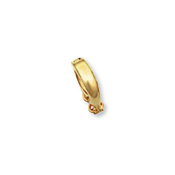 【1個売り】 バチカン 18金 イエローゴールド ジョイントバチカン セーフティー付き 環付き 10.5mm玉迄 ペンダントトップ用|手芸用品 金具 飾り パーツ 部品 K18YG 18k 貴金属