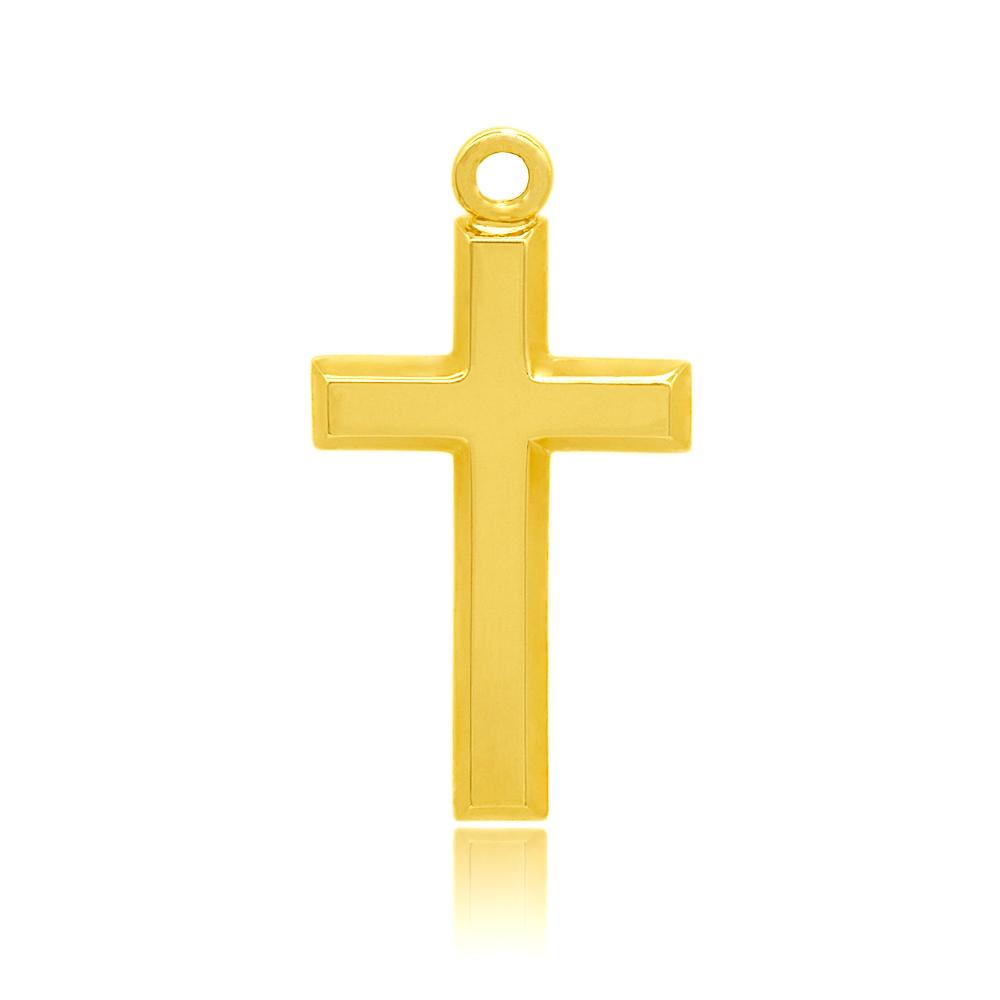 【1個売り】 チャームパーツ 18金 イエローゴールド クロスチャーム 十字架|手芸用品 金具 飾り パーツ 部品 K18YG 18k 貴金属