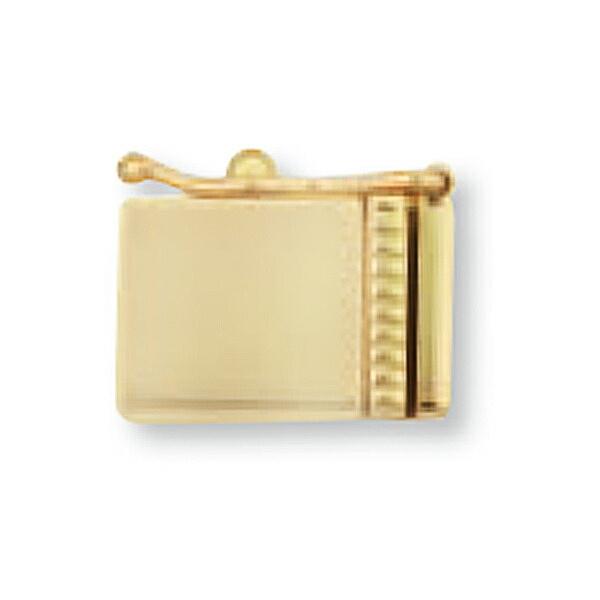 【1個売り】 留め具 18金 イエローゴールド 差し込み式クラスプ セーフティー付き 縦11.0mm 横7.0mm|手芸用品 金具 飾り パーツ 部品 K18YG 18k 貴金属