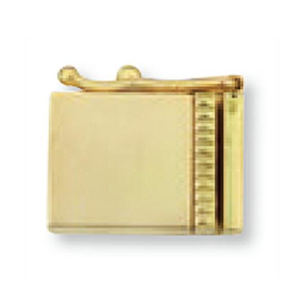 【1個売り】 留め具 18金 イエローゴールド 差し込み式クラスプ セーフティー付き 縦12.0mm 横8.0mm|手芸用品 金具 飾り パーツ 部品 K18YG 18k 貴金属