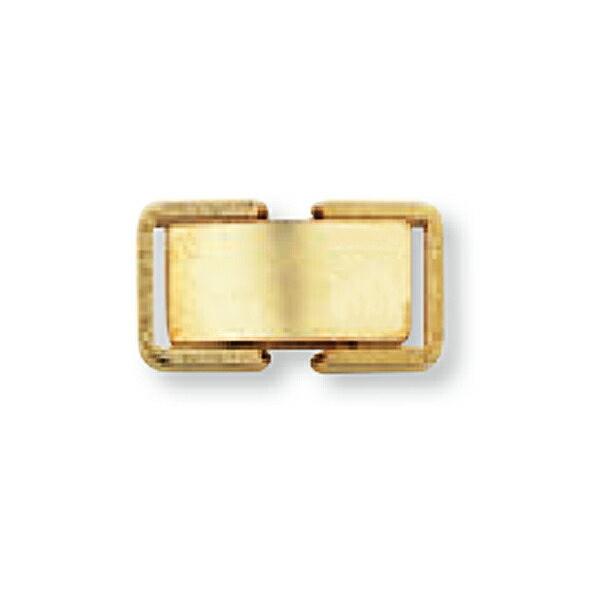 【1個売り】 留め具 18金 イエローゴールド 中折れ式留具 縦12.0mm 横6.0mm クラスプ|手芸用品 金具 飾り パーツ 部品 K18YG 18k 貴金属
