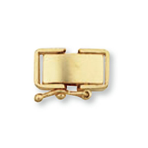 【1個売り】 留め具 18金 イエローゴールド 中折れ式留具 セーフティー付き 縦12.0mm 横6.0mm クラスプ|手芸用品 金具 飾り パーツ 部品 K18YG 18k 貴金属