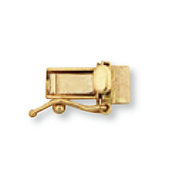【1個売り】 留め具 18金 イエローゴールド 差し込み式クラスプ セーフティー付き 縦10.0mm 横4.5mm|手芸用品 金具 飾り パーツ 部品 K18YG 18k 貴金属