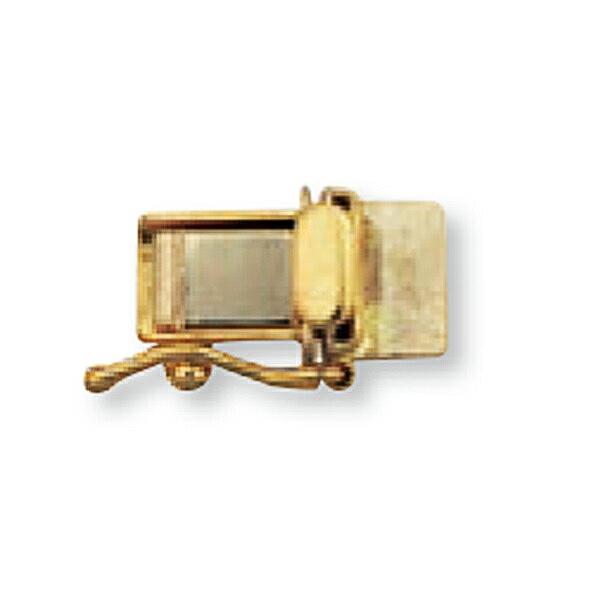 【1個売り】 留め具 18金 イエローゴールド 差し込み式クラスプ セーフティー付き 縦11.0mm 横5.5mm 手芸用品 金具 飾り パーツ 部品 K18YG 18k 貴金属