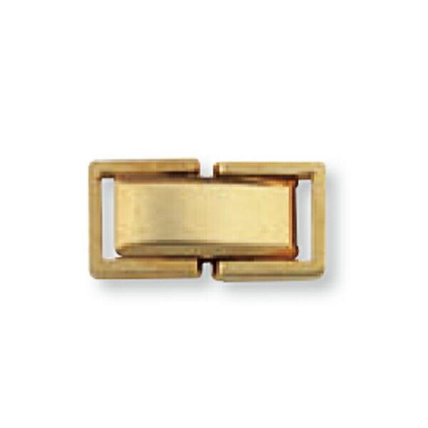 【1個売り】 留め具 18金 イエローゴールド 中折れ式留具 縦13.0mm 横6.0mm クラスプ|手芸用品 金具 飾り パーツ 部品 K18YG 18k 貴金属