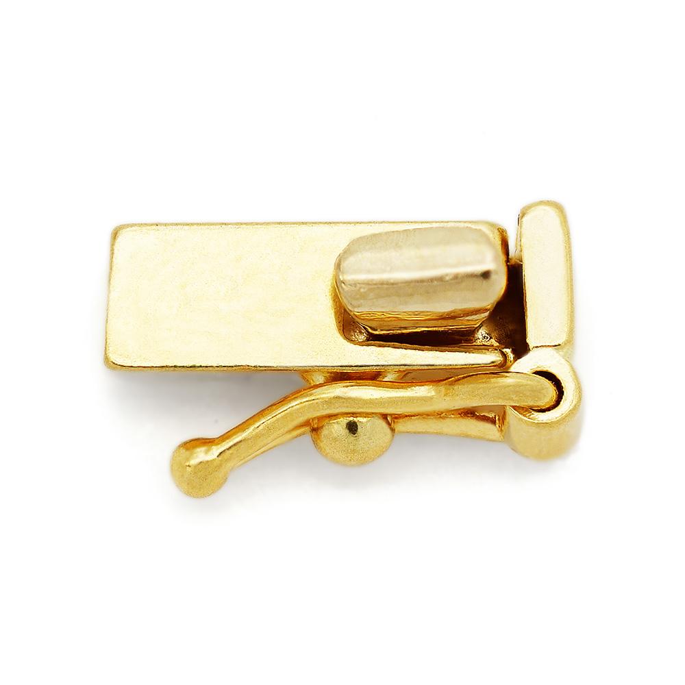 【1個売り】 留め具 18金 イエローゴールド 差し込み式クラスプ セーフティー付き 縦8.0mm 横2.5mm|手芸用品 金具 飾り パーツ 部品 K18YG 18k 貴金属