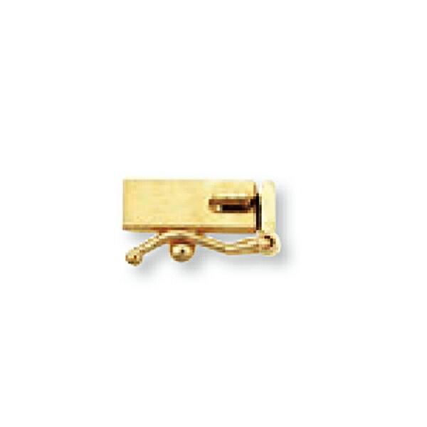 【1個売り】 留め具 18金 イエローゴールド 差し込み式クラスプ セーフティー付き 縦9.5mm 横3.0mm|手芸用品 金具 飾り パーツ 部品 K18YG 18k 貴金属