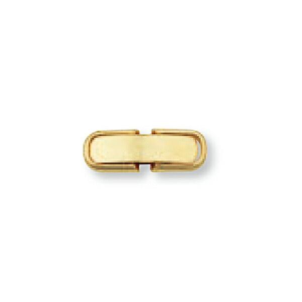 【1個売り】 留め具 18金 イエローゴールド 中折れ式留具 丸平型 縦12.0mm 横4.3mm クラスプ|手芸用品 金具 飾り パーツ 部品 K18YG 18k 貴金属