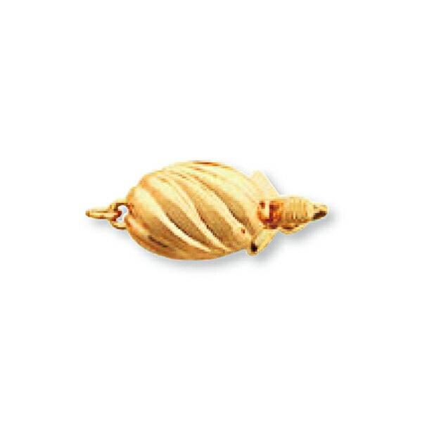 【1個売り】 留め具 18金 イエローゴールド パール用差し込み式クラスプ 縦9.0mm 横18.0mm 真珠 ビーズ|手芸用品 金具 飾り パーツ 部品 K18YG 18k 貴金属
