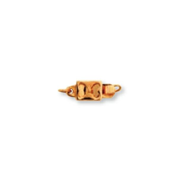 【1個売り】 留め具 18金 イエローゴールド クラスプ 縦11.0mm 横4.5mm|手芸用品 金具 飾り パーツ 部品 K18YG 18k 貴金属