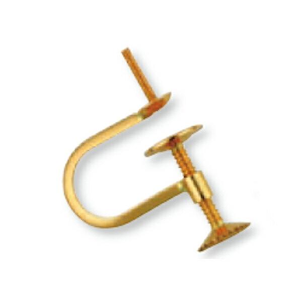 【1個売り】 イヤリングパーツ 18金 イエローゴールド ネジ式イヤリングパーツ つきさし付き 縦14.0mm|手芸用品 金具 飾り パーツ 部品 K18YG 18k 貴金属