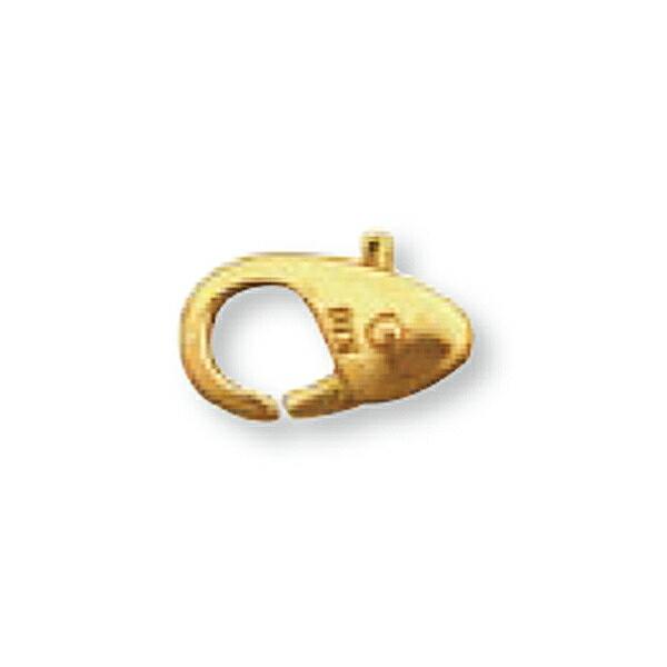 【1個売り】 留め具 18金 イエローゴールド 小フック 縦9.5mm 横6.5mm カニカン カニ環 クラスプ|手芸用品 金具 飾り パーツ 部品 K18YG 18k 貴金属