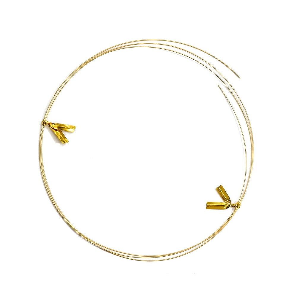 ワイヤーパーツ 18金 イエローゴールド 丸線ワイヤー 半なまし 線径0.5mm 長さ50cm 針金 線材|手芸用品 金具 飾り パーツ 部品 K18YG 18k 貴金属