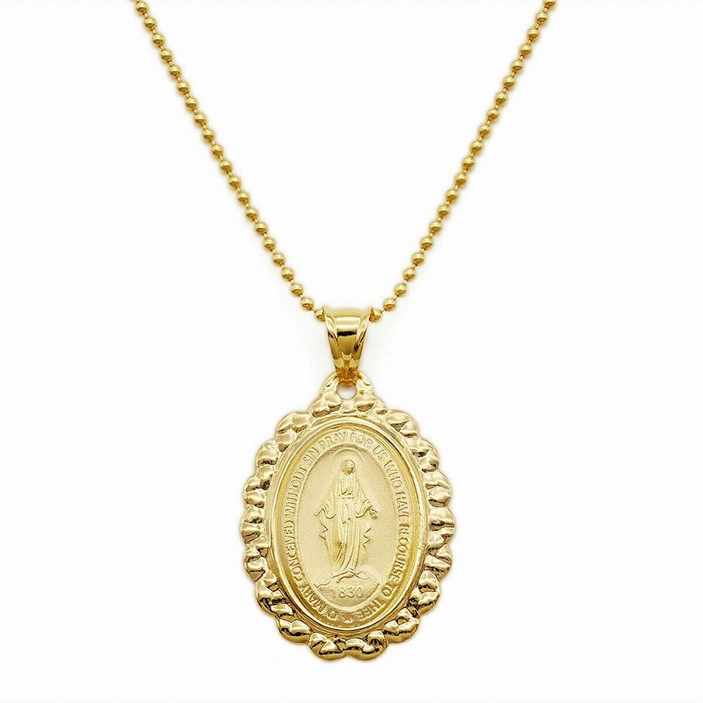 【日常に安心と華やぎを、着けて知る本物の贅沢】 ペンダントトップ 18金 イエローゴールド 聖母マリアのメダイペンダント ペンダントヘッドのみ|K18YG 18k 貴金属 ジュエリー レディース メンズ