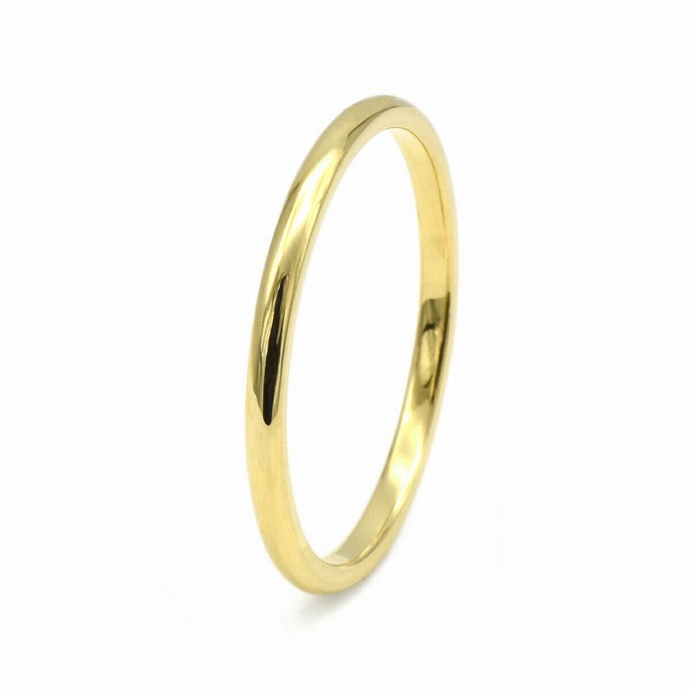 指輪 18金 イエローゴールド 甲丸リング 幅1.5mm ピンキーリングもございます 地金リング K18YG 18k 貴金属 ジュエリー レディース メンズ
