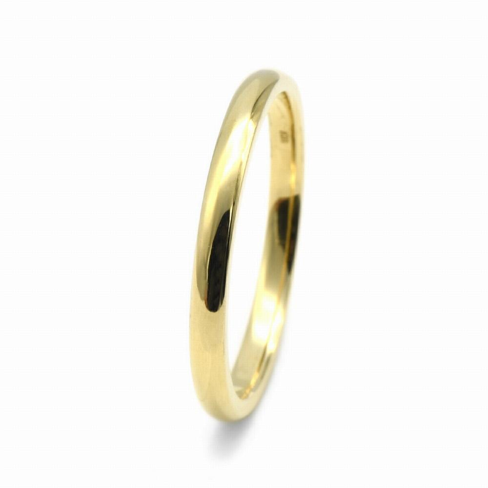 指輪 18金 イエローゴールド 甲丸リング 幅2.0mm ピンキーリングもございます 地金リング|K18YG 18k 貴金属 ジュエリー レディース メンズ