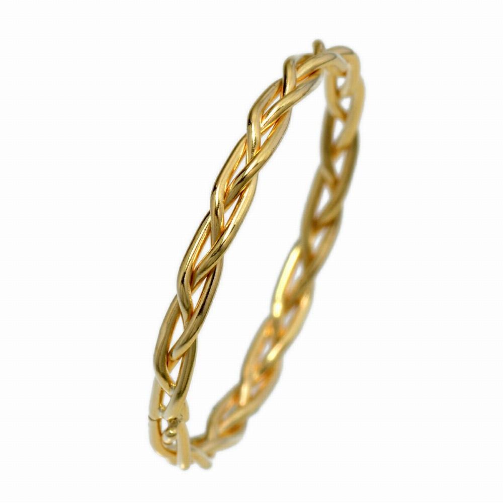 指輪 18金 イエローゴールド シングル三つ編みリング 幅1.7mm ピンキーリングもございます 地金リング|K18YG 18k 貴金属 ジュエリー レディース メンズ