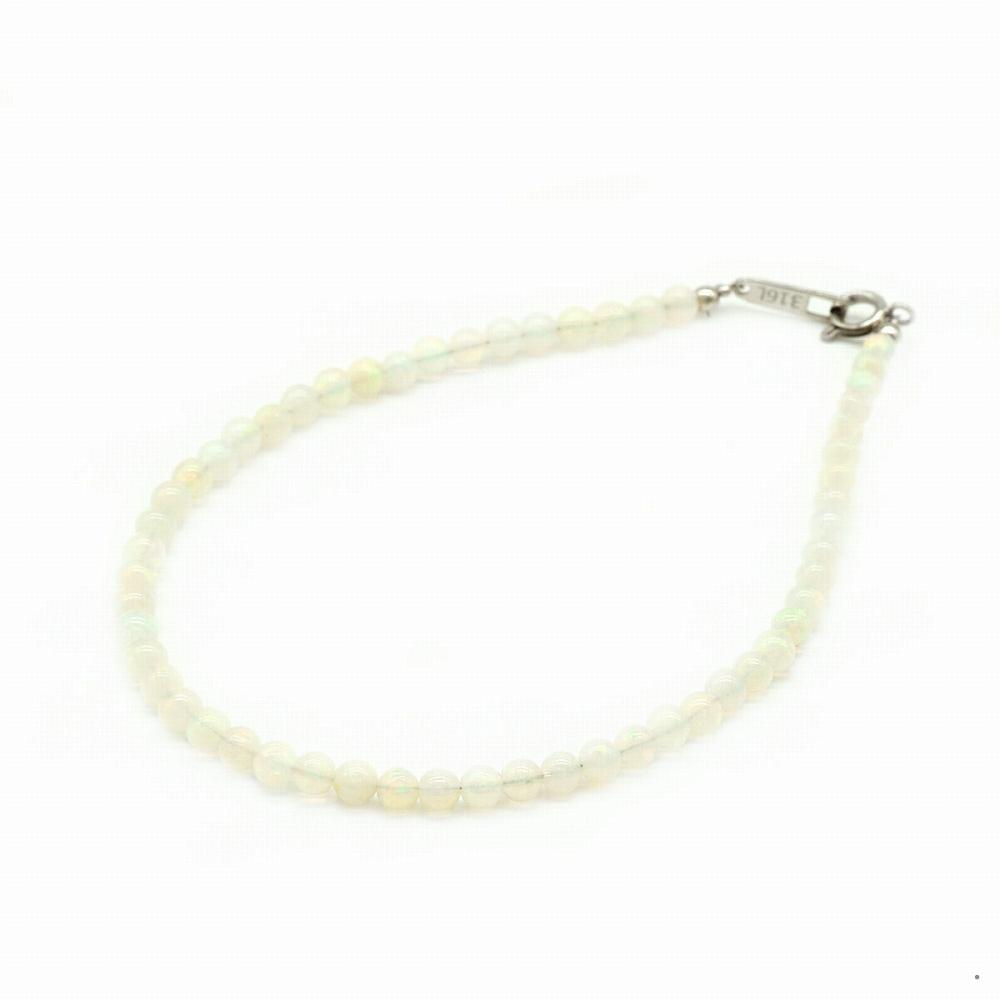 天然石 ブレスレット オパールを使用した数珠ブレスレット 3.5mm玉|パワーストーン アクセサリー レディース メンズ