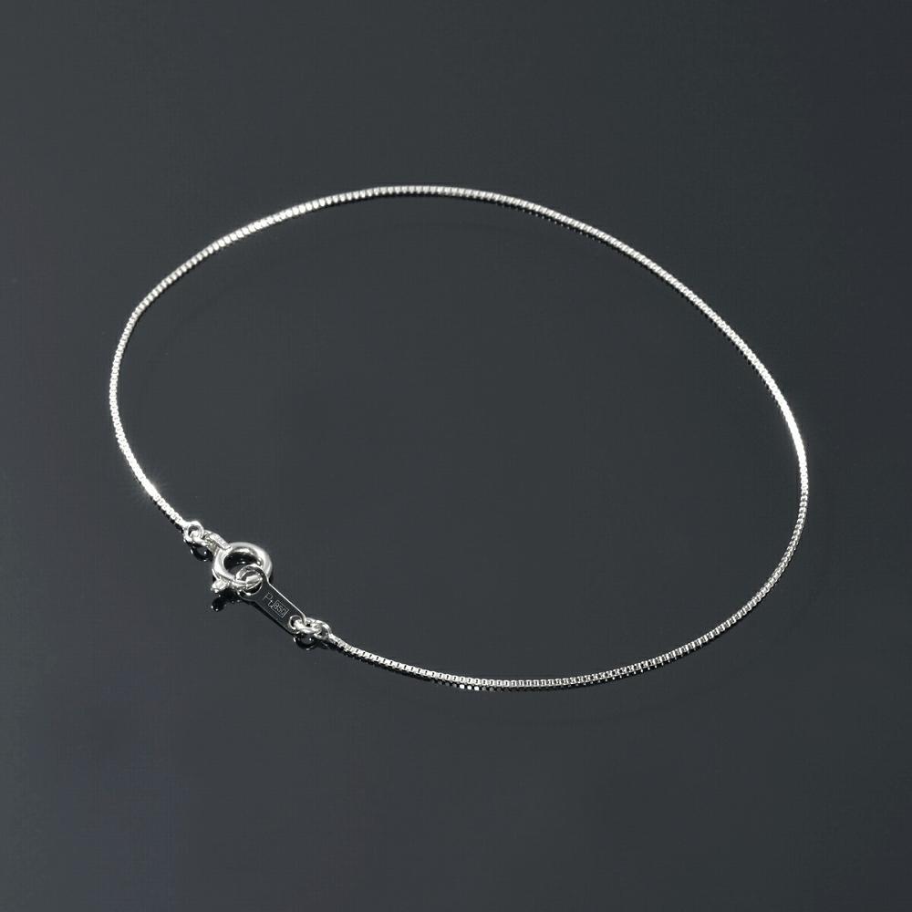 ブレスレット チェーン PT850 プラチナ ベネチアンチェーン 幅0.5mm 長さ15cm|鎖 850pt 貴金属 ジュエリー レディース メンズ