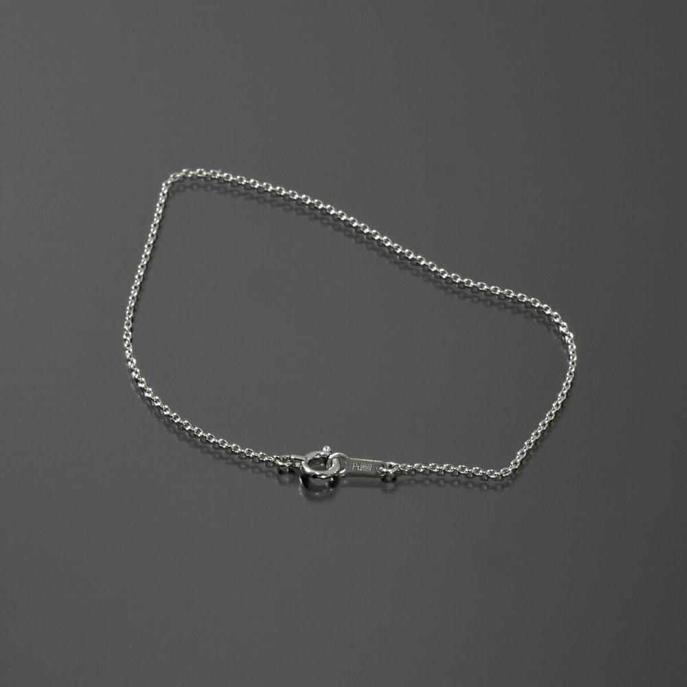 ブレスレット チェーン PT850 プラチナ 小豆チェーン 幅1.1mm 長さ15cm|鎖 850pt 貴金属 ジュエリー レディース メンズ
