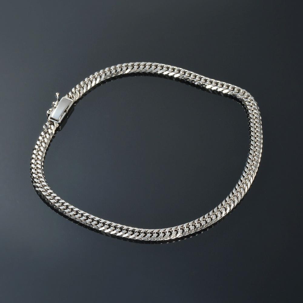 ブレスレット チェーン PT850 プラチナ 6面カットダブル喜平チェーン 幅4.1mm 長さ15cm|鎖 850pt 貴金属 ジュエリー レディース メンズ