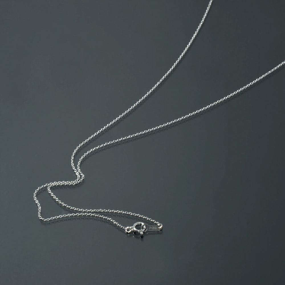 ネックレス チェーン PT850 プラチナ 小豆チェーン 幅0.9mm 長さ38cm|鎖 850pt 貴金属 ジュエリー レディース メンズ