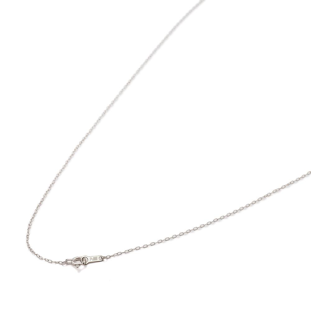 ネックレス チェーン PT850 プラチナ ロング小豆チェーン 幅1.0mm 長さ38cm|鎖 850pt 貴金属 ジュエリー レディース メンズ
