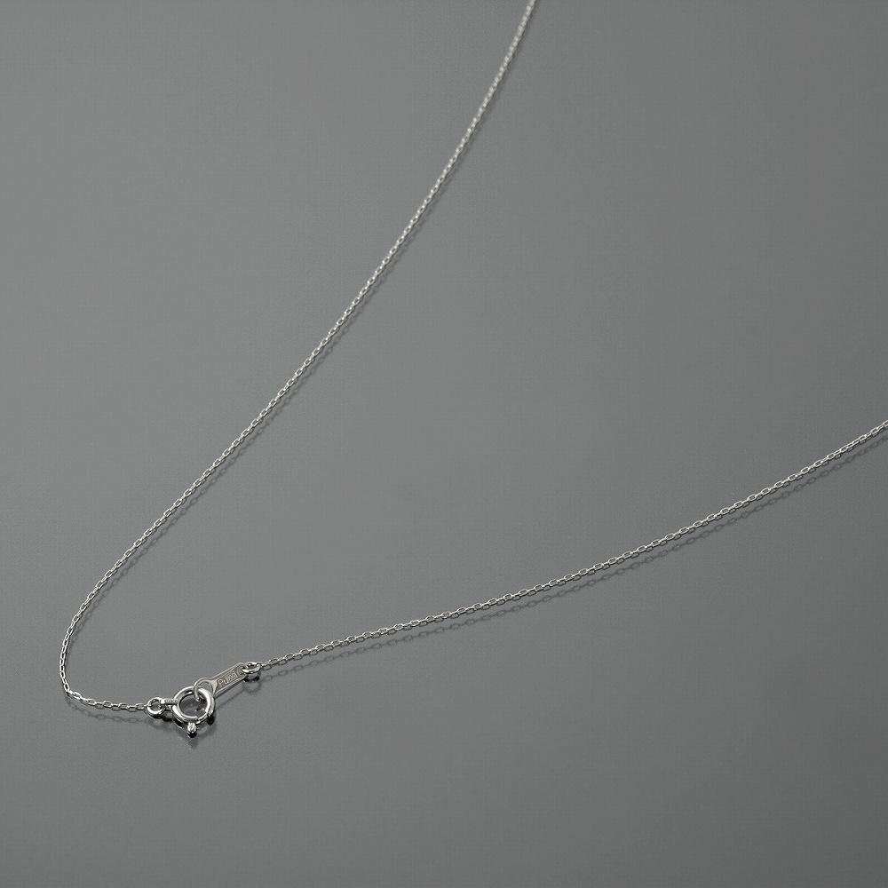 ネックレス チェーン PT850 プラチナ 4面カット小豆チェーン 幅0.7mm 長さ38cm|鎖 850pt 貴金属 ジュエリー レディース メンズ