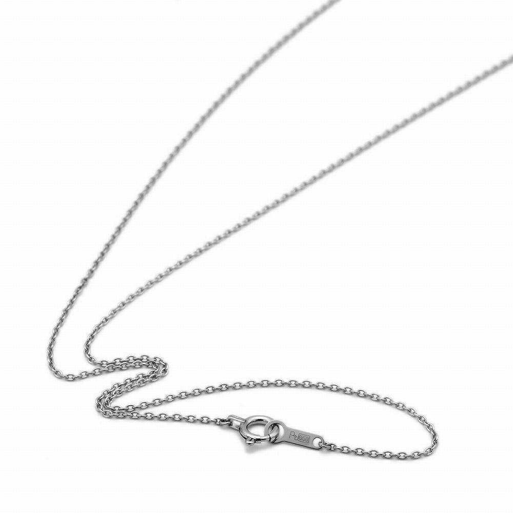 ネックレス チェーン PT850 プラチナ 小豆チェーン 幅1.0mm 長さ38cm|鎖 850pt 貴金属 ジュエリー レディース メンズ