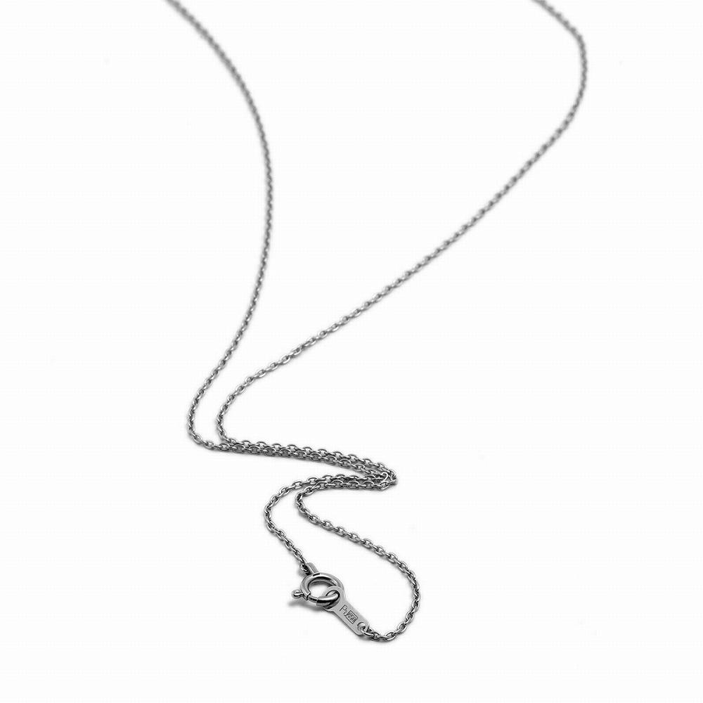 ネックレス チェーン PT850 プラチナ 小豆チェーン 幅1.1mm 長さ38cm|鎖 850pt 貴金属 ジュエリー レディース メンズ