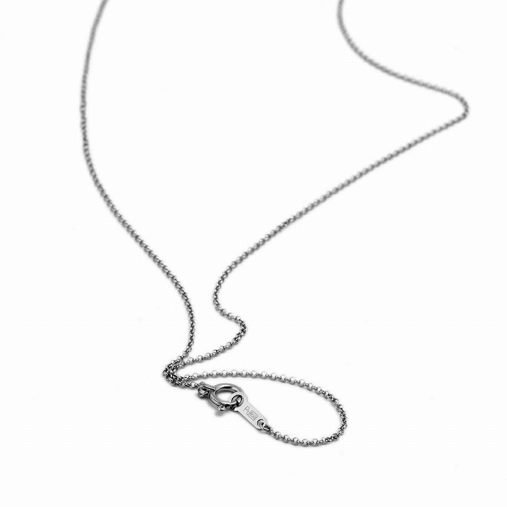 ネックレス チェーン PT850 プラチナ ロールチェーン 幅1.0mm 長さ38cm|鎖 850pt 貴金属 ジュエリー レディース メンズ
