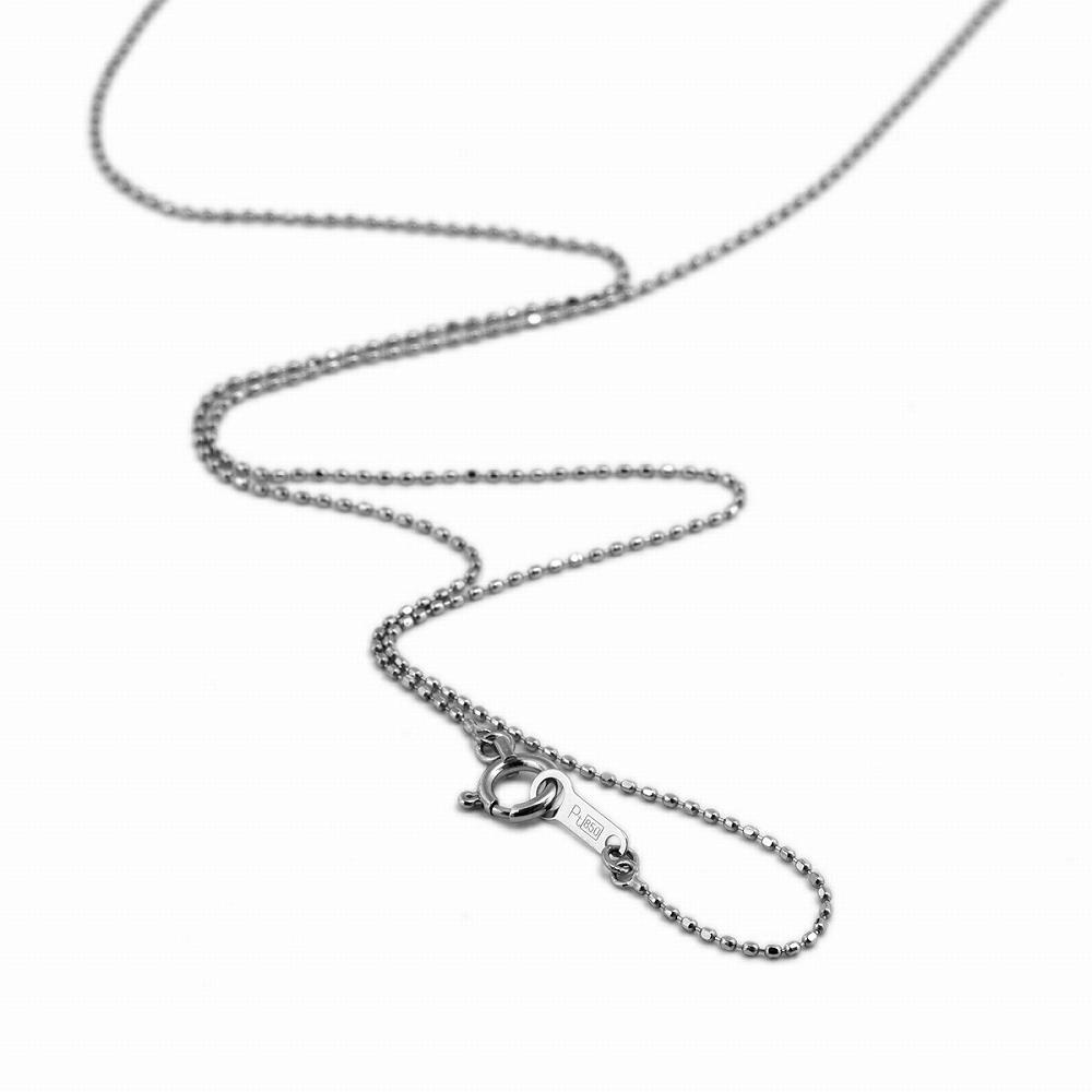 ネックレス チェーン PT850 プラチナ カットボールチェーン 幅0.8mm 長さ38cm|鎖 850pt 貴金属 ジュエリー レディース メンズ