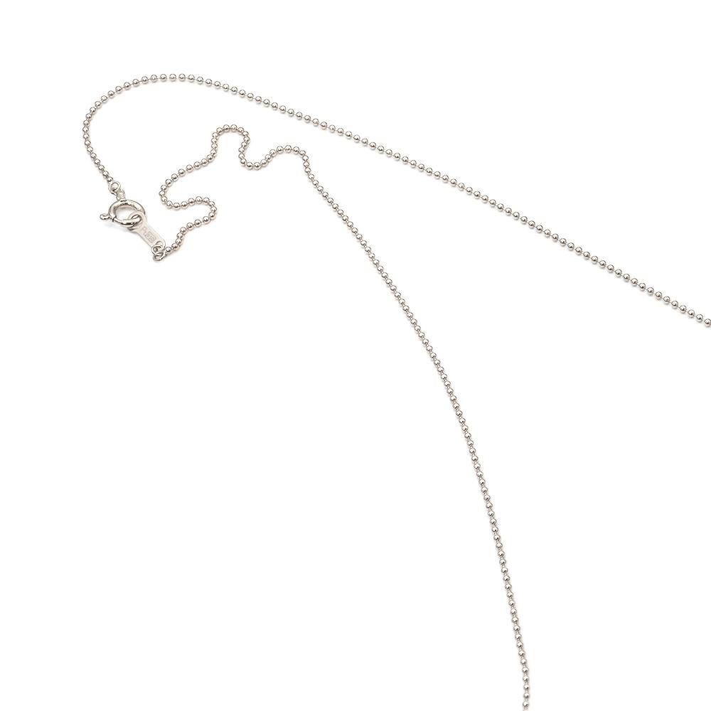 ネックレス チェーン PT850 プラチナ ボールチェーン 幅1.0mm 長さ38cm|鎖 850pt 貴金属 ジュエリー レディース メンズ
