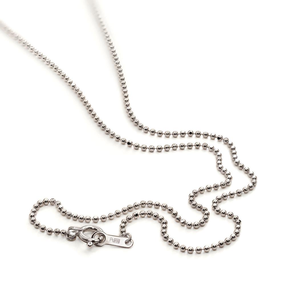 ネックレス チェーン PT850 プラチナ カットボールチェーン 幅1.2mm 長さ38cm|鎖 850pt 貴金属 ジュエリー レディース メンズ