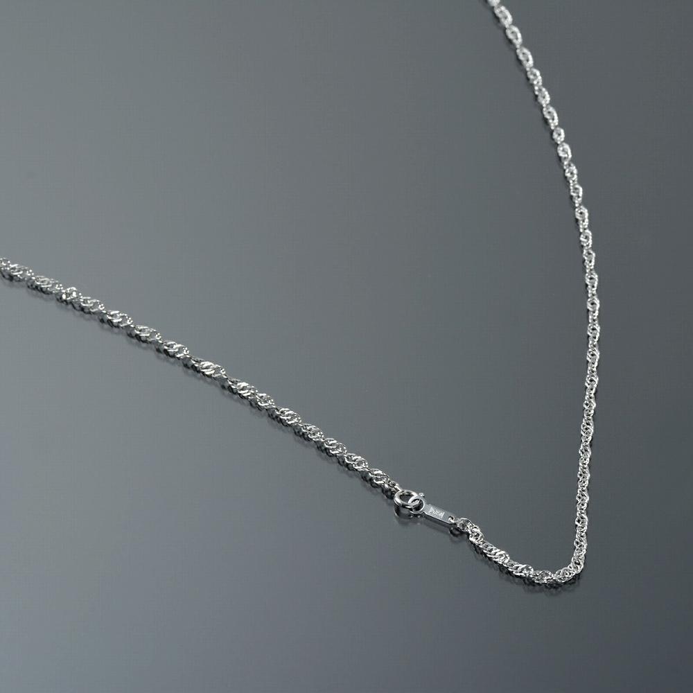 ネックレス チェーン PT850 プラチナ スクリューチェーン 幅2.4mm 長さ38cm|鎖 850pt 貴金属 ジュエリー レディース メンズ