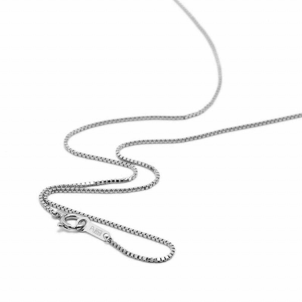 ネックレス チェーン PT850 プラチナ ベネチアンチェーン 幅0.8mm 長さ38cm|鎖 850pt 貴金属 ジュエリー レディース メンズ