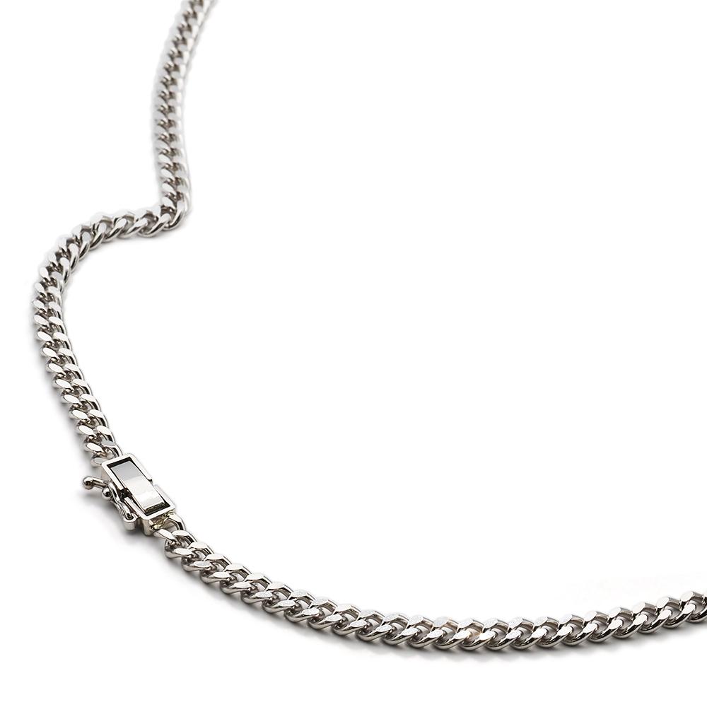 ネックレス チェーン PT850 プラチナ 2面カット喜平チェーン 幅3.60mm|鎖 850pt 貴金属 ジュエリー レディース メンズ