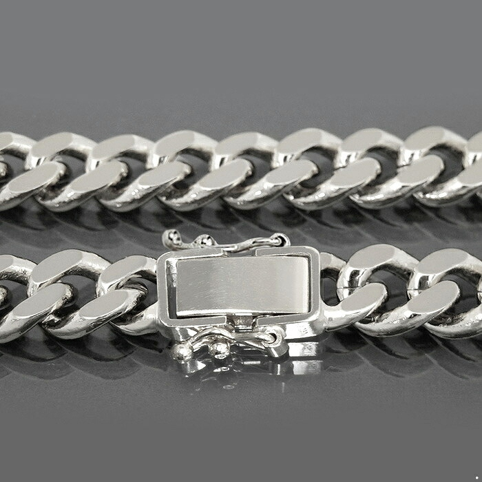 ネックレス チェーン PT850 プラチナ 2面カット喜平チェーン 幅8.5mm 長さ60cm|鎖 850pt 貴金属 ジュエリー メンズ