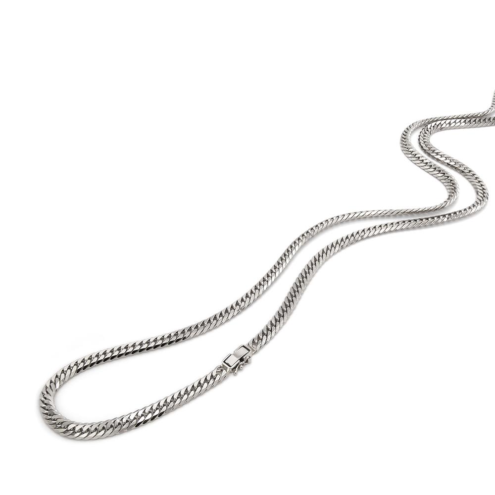 ネックレス チェーン PT850 プラチナ 6面カットダブル喜平チェーン 幅5.2mm 長さ38cm|鎖 850pt 貴金属 ジュエリー メンズ